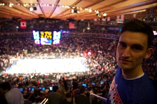 "Oklahoma City Thunder versus New York Knicks in ""the world's most famous arena"""