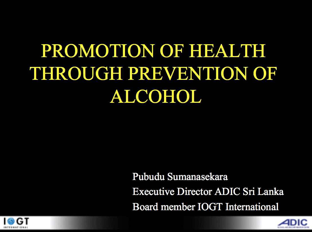 health promotion alcohol Alcohol has been linked to a number of mental health problems a study showed that people with depression or anxiety were two times more likely to be heavy drinkers (though whether this was a cause or a symptom could not be concluded.