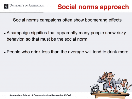 "Boomerang effect of media campaigns to educate about ""harmful drinking"""
