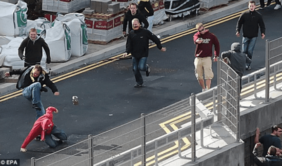 Ultras clashing in London last year...