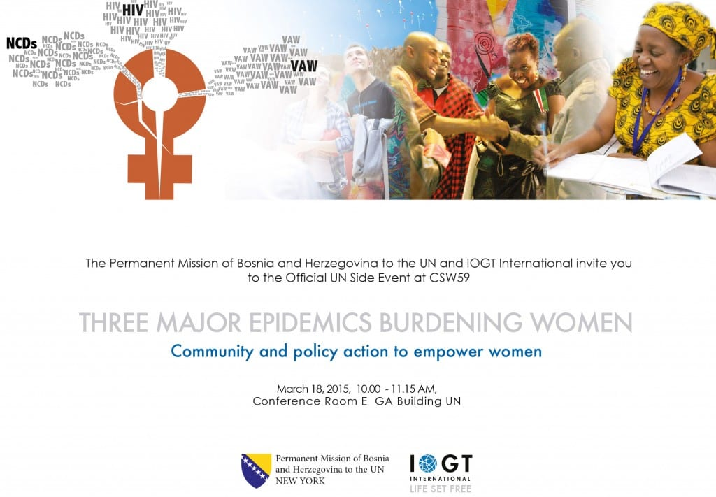 Invitation Three major epidemics Side event CSW59-1