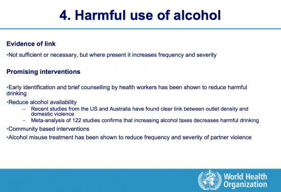 Less alcohol use, less violence, more freedom
