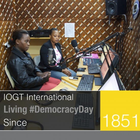 """lets get the tv and the radio to play our tune again its 'bout time we got some airplay of our version of events"" #DemocracyDay"