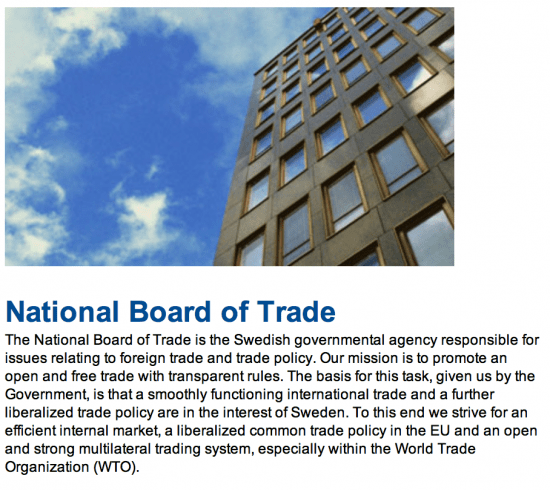 About the Swedish Board of Trade