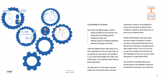 A clockwork of actions #InspireFreedom