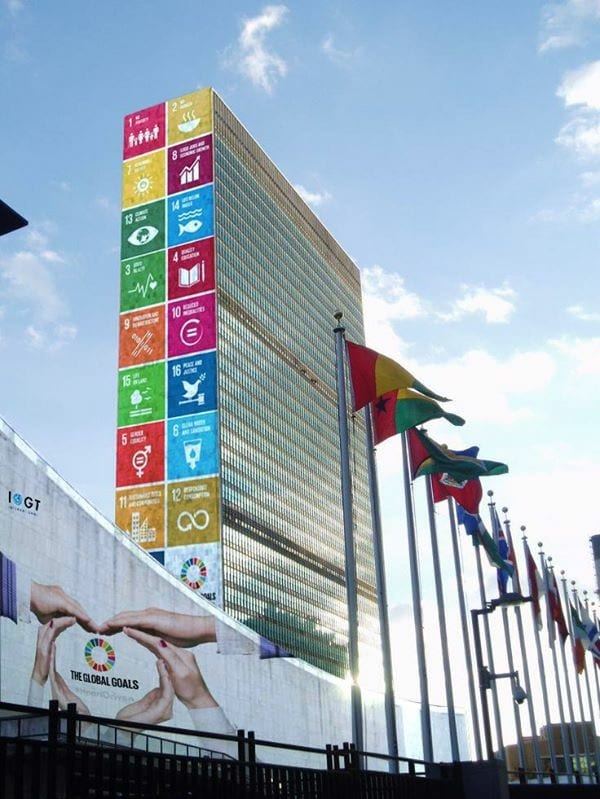 Global Goals Light Up UN Headquarters - IOGT International